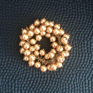 J. Crew stretch pearl bracelet